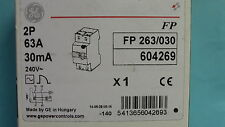 INTERRUPTEUR  DIFFERENTIEL  2P 63A 30mA-AC  TYPE AC GE  RCD