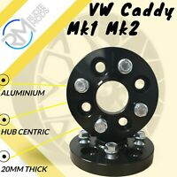 VW Caddy Mk1 Mk2 4x100 20mm Hubcentric Wheel spacers 1 pair inc bolts