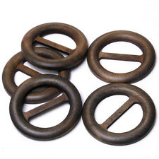 B634 Wooden Buckle Sash Sarong Belt Accessory Sewing Craft Buttons 57mm 6pcs