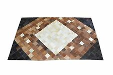 Handmade Cowhide Leather Patchwork Real Leather Cow Hair On Skin Rugs 120x180cm