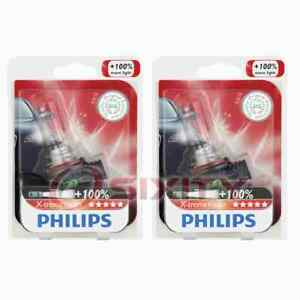 2 pc Philips High Beam Headlight Bulbs for Smart Crossblade 2004 Electrical pn