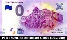 UE DG-2 / CHATEAU DE JOUX / BILLET SOUVENIR 0 EURO / 2017-2*