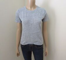 NWT Abercrombie Womens Boy Tee Size XS Marled Light Gray Crewneck T-Shirt