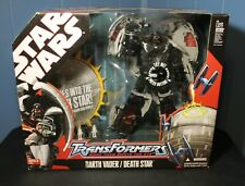 Stars Wars Transformers Darth Vader / Death Star Action Figure Toy 2007 Hasbro