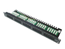 Patch Panel de 50 puertos RJ45 CAT3 para Telefonia para Rack