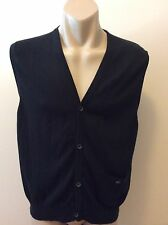 Hem & Haw Mens  XL Black Sleeveless Jumper