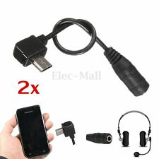 2Pcs Micro USB Jack to 3.5mm female Headphone Earphone Adapter Audio Cable Cord