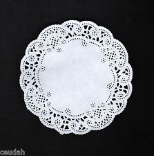 "(50) 12"" Round White French Lace Paper Doily Doilies Party Decoration Inches"