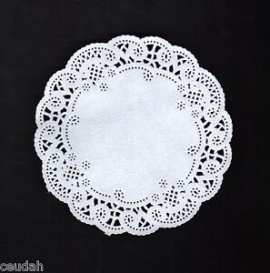 """(50) 12"""" Round White French Lace Paper Doily Doilies Party Decoration Inches"""
