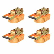 vidaXL 4x Spanband Oranje Bagagegordel Spangordel Sjorband Sjorriem Span Band