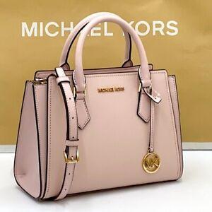 Michael kors hope leather medium messenger bag crossbody powder blush 35T0GWXM2L