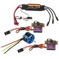 2450KV Brushless Motor + 40A ESC + 2Pcs MG90S Servo for Fixed Wing RC Airplane