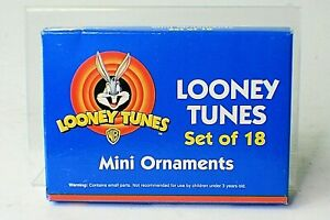 NEW 1996 Looney Tunes Mini Holiday Christmas Ornaments Set of 18 Bugs Sylvester