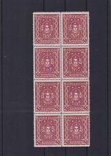 1922/24 Frauenkopf 50 Kronen 8er Block Postfrisch ** MNH ANK 400