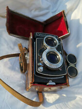 Rare Yashica-B Twin Camera (Black/Old Logo) + Original Case & Strap