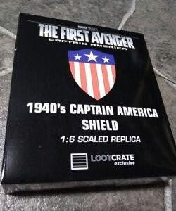 Marvel Comics Captain America 1940's Shield EFX Collectibles Metal 1:6 Replica