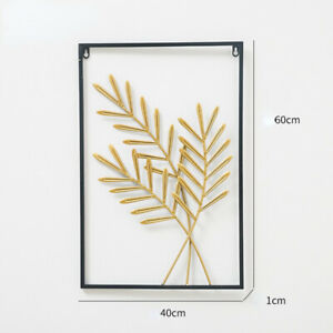Living Room Wall Decoration Metal Leaf Wall Hanging Sofa Porch Wall Hangings