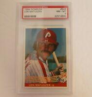 1984 Donruss #549 Len Matuszek Phillies PSA 8