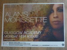 Alanis Morissette - Glasgow aug.2008 tour concert gig poster