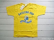 Neuf avec étiquette 90er Diadora voile Cup T-shirt Italy Capri True Vintage College America's