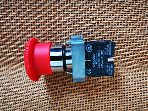 Emergency Stop Push Button Switch  N/C 10A 660V ZB2 102C + BS54C