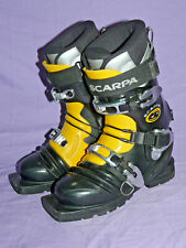 Scarpa T1 Telemark Tele Touring Ski Boots 3-pin 75mm toe Men's Size 4 Italy