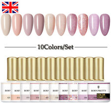 BORN PRETTY 10 Bottles Set Gel Polish Glitter Gel Varnish Nail Art Soak Off 10ml
