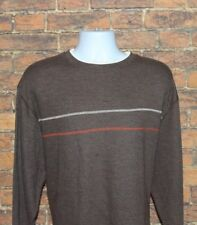 Faded Glory Mens Crew Neck Sweater Size 2XL Brown Long Sleeve Cotton Blend