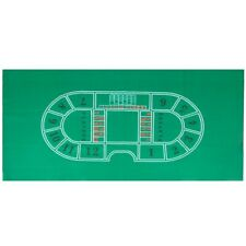 BACCARAT Pro Casino Game Layout,  3 ft. X 6 ft. Wear Resistant Green Felt