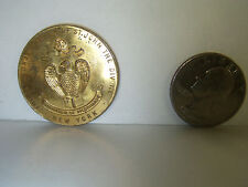 Vintage Brass The Cathedral Church of St. John divine Pilgrimage NY Church Coin