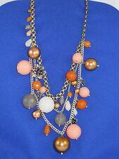 Fossil Brand Bountiful Blossoms Drama Multi Necklace