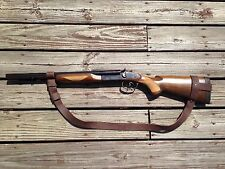 """1"""" Leather Coach Gun Sling  Winchester H&R Browning Moss Remington NO DRILL"""