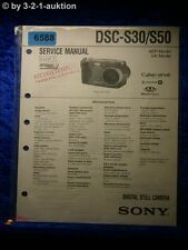 Sony Service Manual Dsc S30/S50 Level 1 Digital Still Camera (#6588)