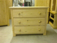 SHAKER ANTIQUE HANDWAXED 3 DRAWER CHEST NO FLAT PACKS