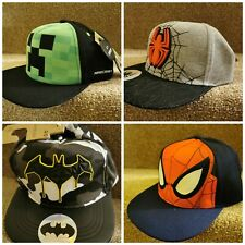 Kids primark marvel minecraft spiderman batman baseball cap hat age 2-13 years
