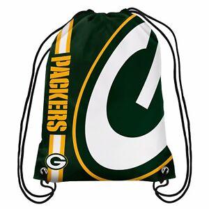 Green Bay Packers Back Pack/Sack Drawstring Gym Bag Sport Backpack Side Stripe