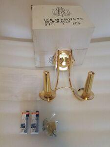 Loxton Lighting Wall Light Gold / Glass Shade