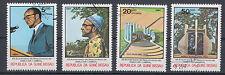Guinea-Bissau 793 - 796 gestempelt, 60. Geburtstag von Amilcar Cabral