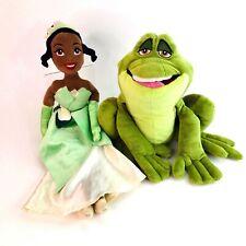 "Princess Tiana and the Frog 20"" Soft Plush Toys Disney Store 2010 VGC"