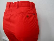 VERY NICE Red Polo By Ralph Lauren Men's Classic Fit Pants Size W34 x L32