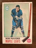 Bob Pulford 1969-70 #53 O-Pee-Chee Hockey Card Toronto Maple Leafs