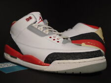 NIKE AIR JORDAN III 3 RETRO WHITE FIRE RED CEMENT GREY BLACK OG 136064-161 13
