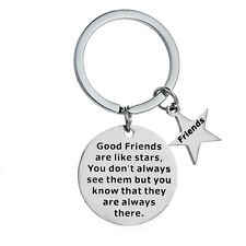 Best Friends Are Like Stars Key Ring Friendship Gift Keyring Keychain BFF Gifts