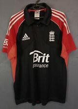 MEN'S ENGLAND NATIONAL TEAM 2011 CRICKET SHIRT JERSEY TRIKOT ADIDAS SIZE L LARGE