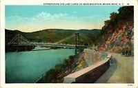Vintage Postcard - The Last Curve On Bear Mountain Bridge Road New York NY #3587
