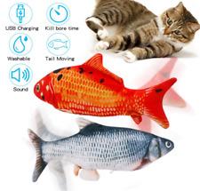 2 Flippity Fish Cat Toy Electric Floppy Fish Cat Toy Moving Fish Catnip Kick Toy