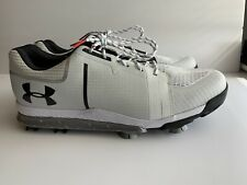 NEW UNDER ARMOUR TEMPO SPORT GOLF SHOES 1288576-101 WHITE SILVER BLACK SZ 10