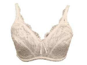 Ladies Comfy Shiny Lace None Padded Support Bra with cotton blend sides