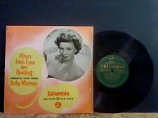 """RUBY MURRAY   When Irish Eyes Are Smiling  10""""  LP"""