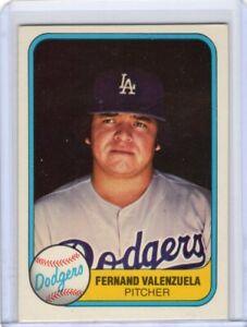 1981 Fleer Fernando Valenzuela RC Dodgers Error Card Missing O In First Name